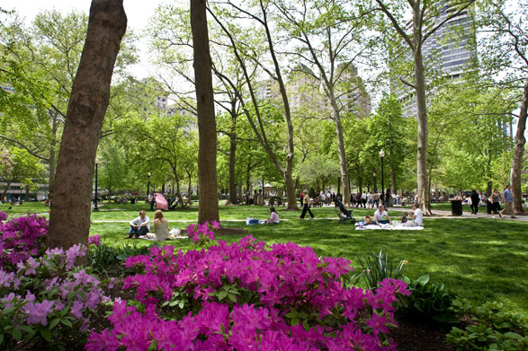 Rittenhouse Square in spring